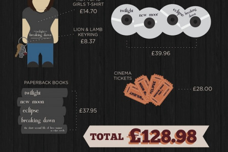 The cost of being a Twilight fan Infographic