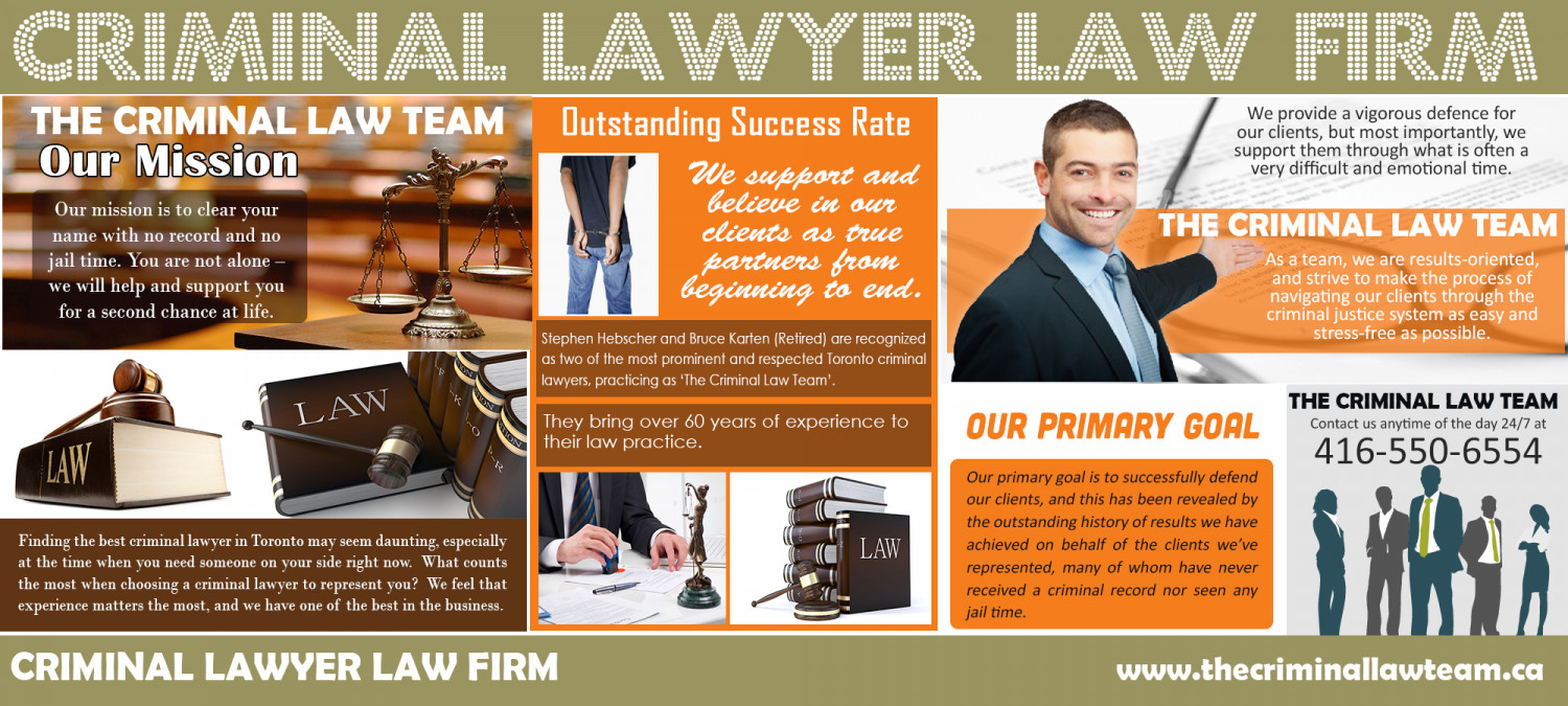 The criminal law team Infographic