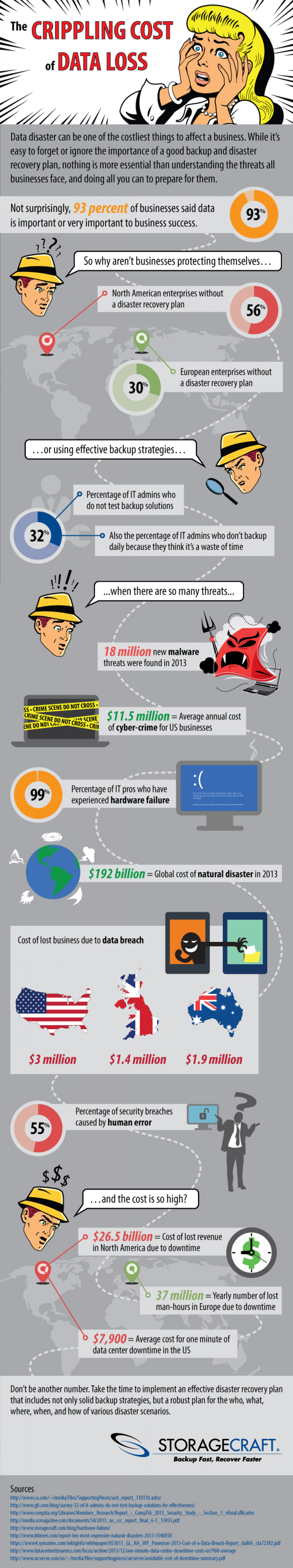 The Crippling Cost of Data Loss Infographic