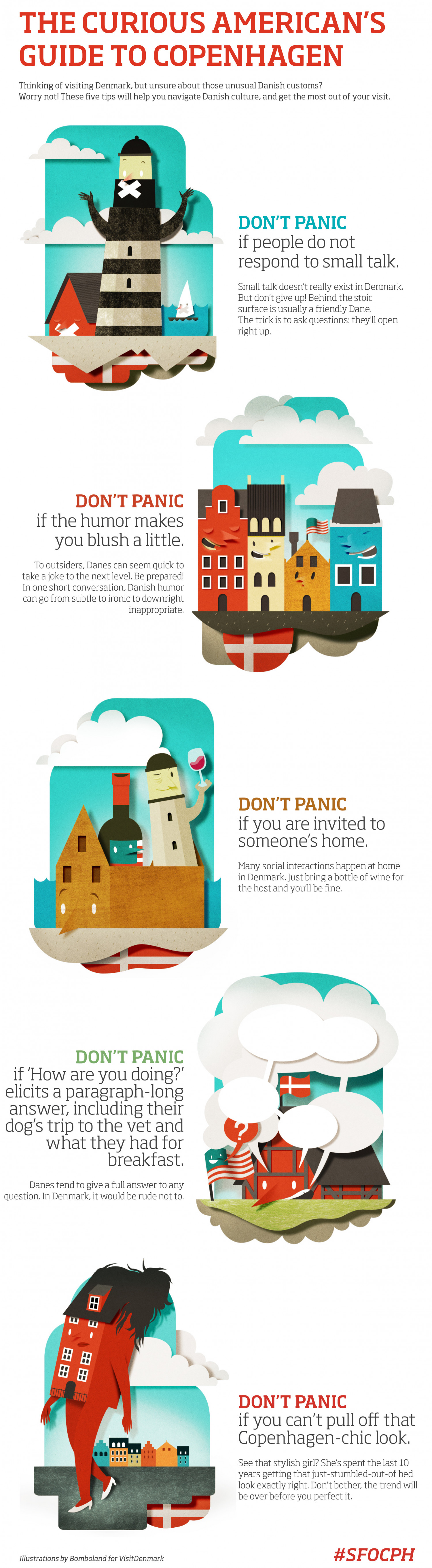 The Curious American Traveler's Guide to Copenhagen Infographic