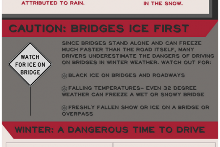 The Dangers of Icy Roads, Infographic Infographic