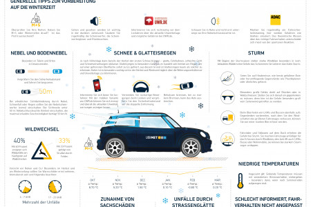 The Dangers of Winter Driving  Infographic