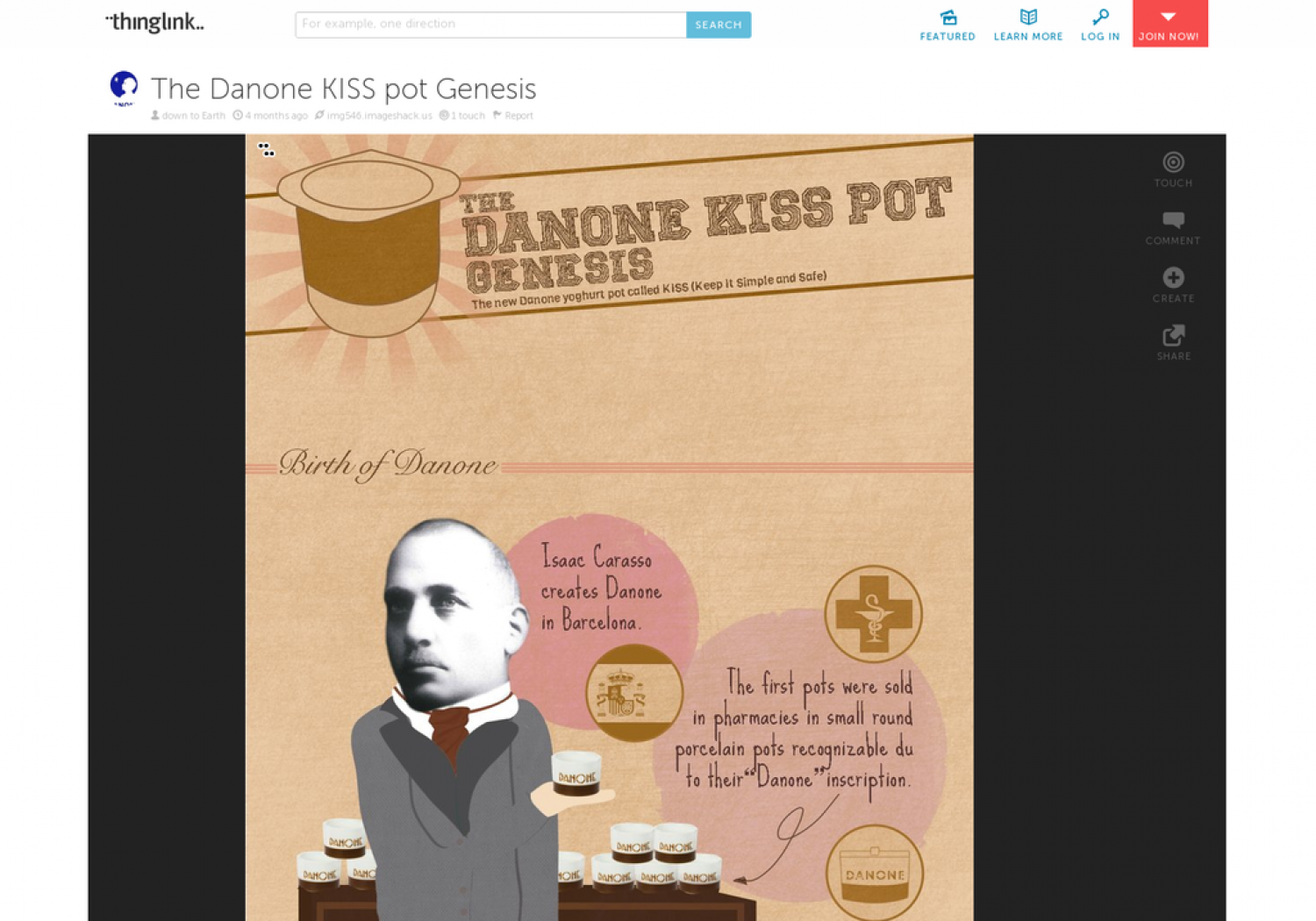 The Danone KISS pot Genesis Infographic