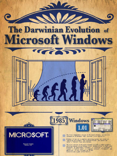 The Darwinian Evolution of Windows  Infographic