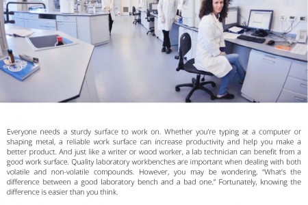 The Difference between Good and Bad Laboratory Workbenches Infographic