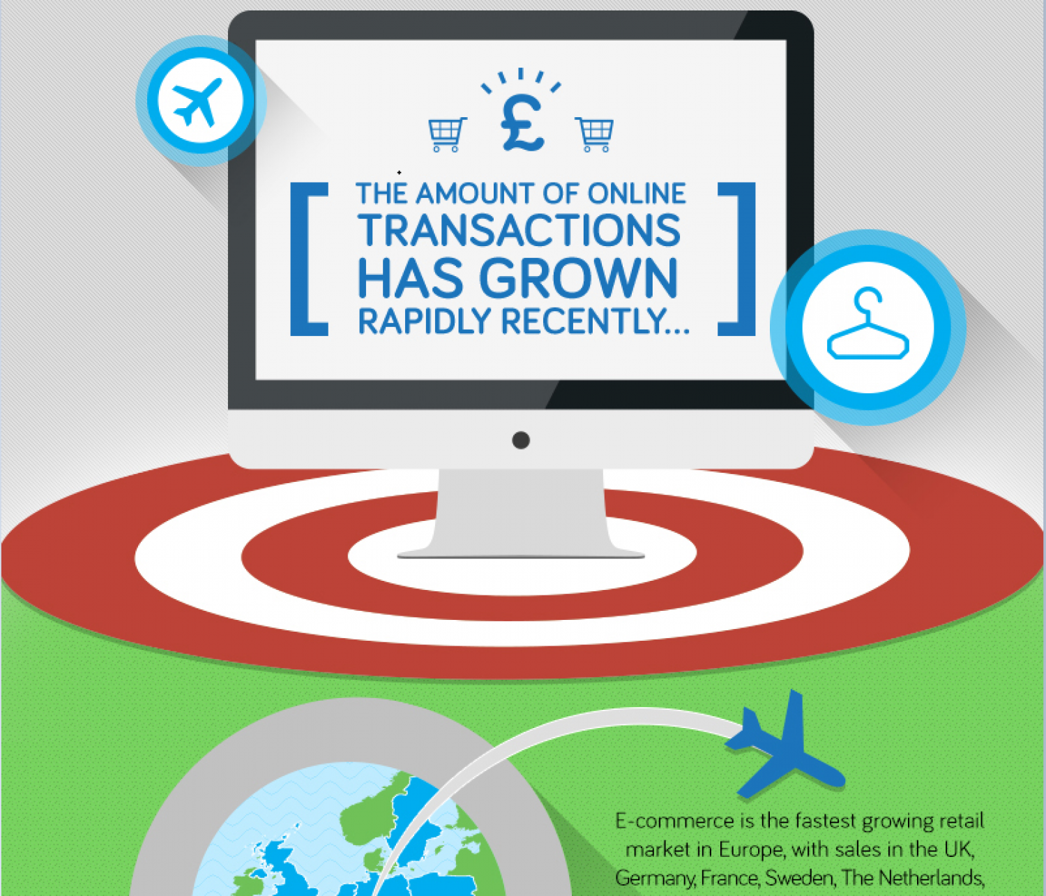 The rise of eCommerce  Infographic