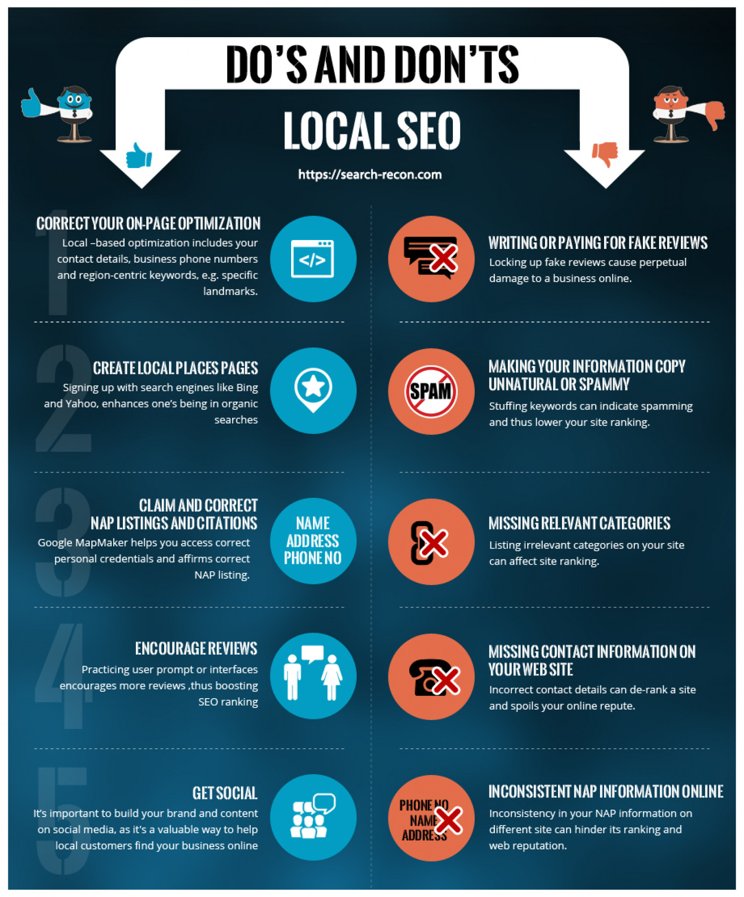 The Do's and Don'ts of Local SEO Infographic