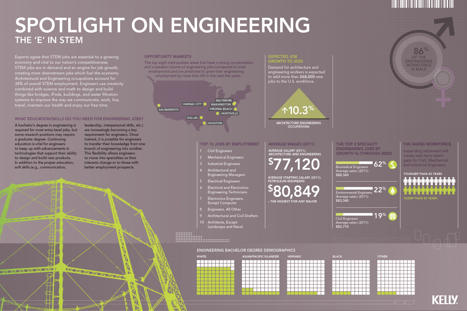"The ""E"" in STEM - Spotlight on Engineering Infographic"