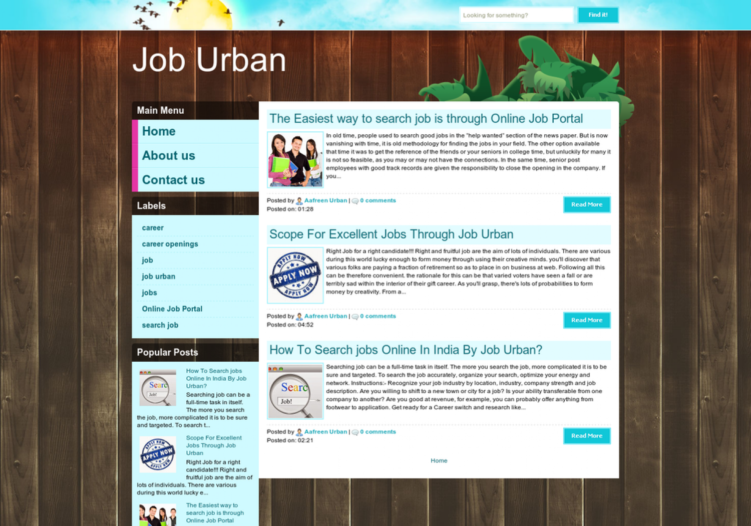 The Easiest way to search job is through Online Job Portal Infographic