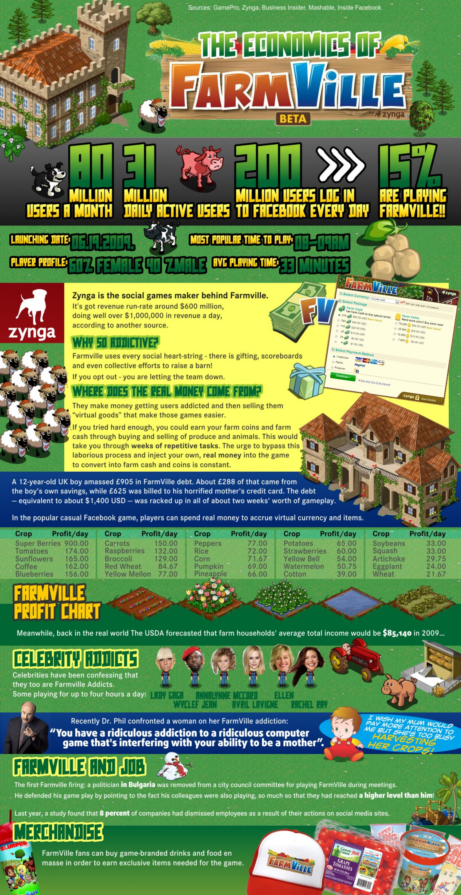 The Economics of FarmVille  Infographic