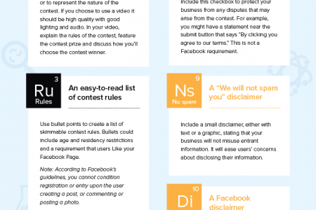 The Elements of a Perfect Facebook Contest App Infographic