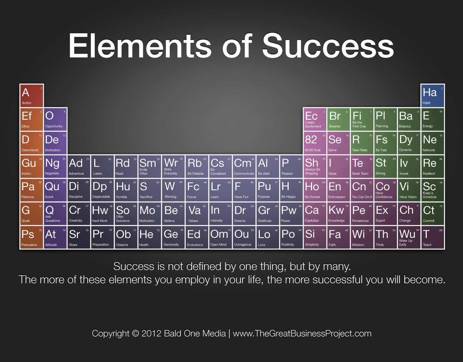 The Elements of Success Infographic