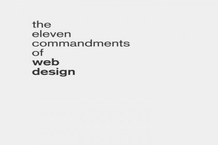 The Eleven Commandments of Web Design Infographic
