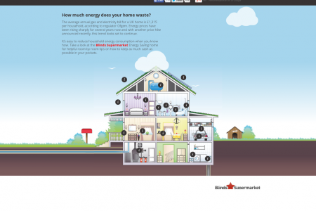 The Energy Saving Home Infographic