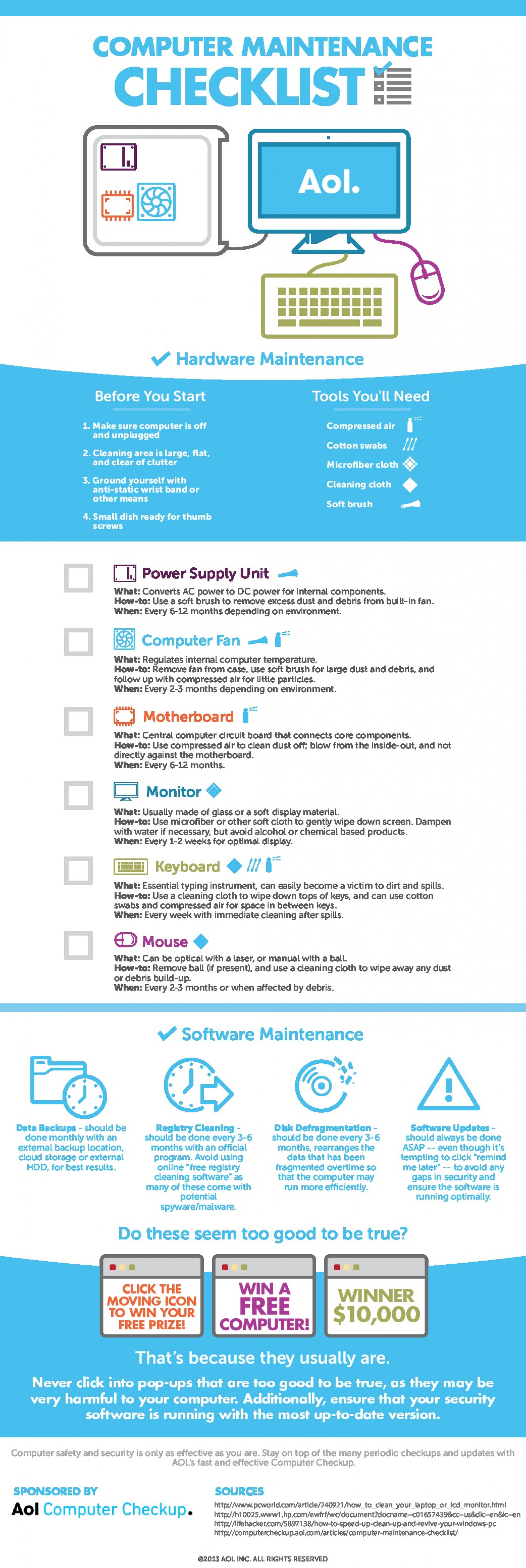 The Essential Computer Maintenance Checklist Infographic