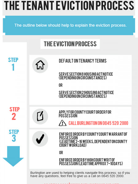 The Eviction Process Infographic
