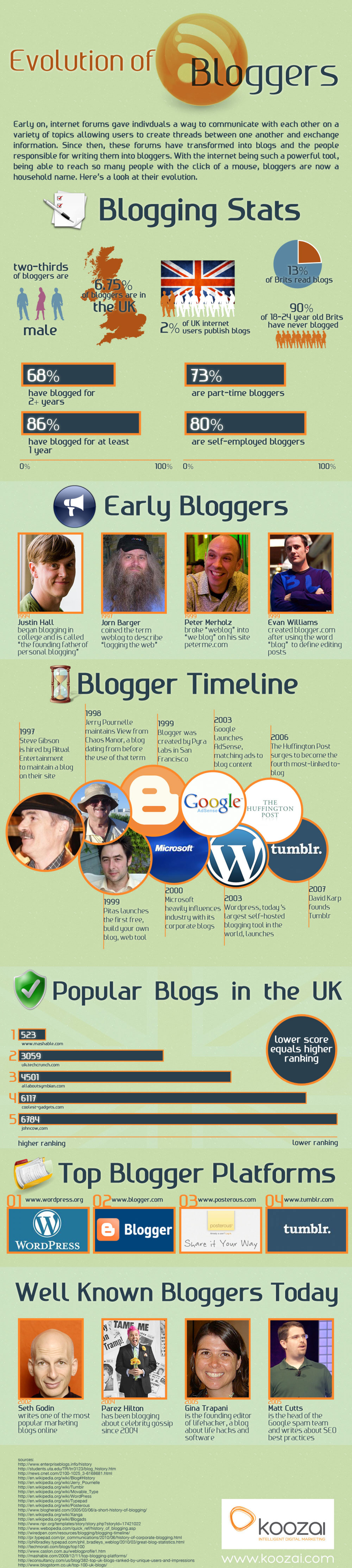 The Evolution of Bloggers  Infographic