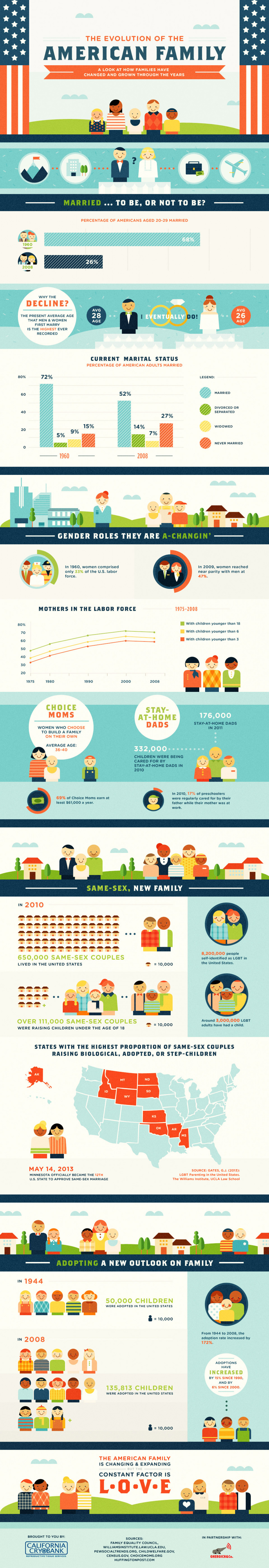 The Evolution of the American Family Infographic