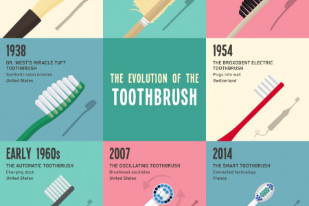 The Evolution of the Toothbrush Infographic