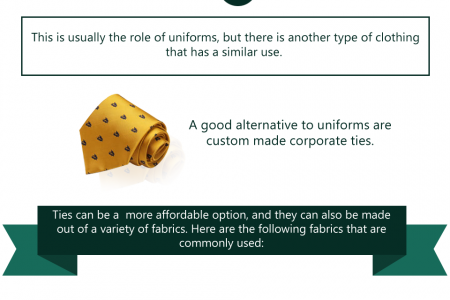 The Fabrics You Can Choose For Your Organisation's Ties Infographic