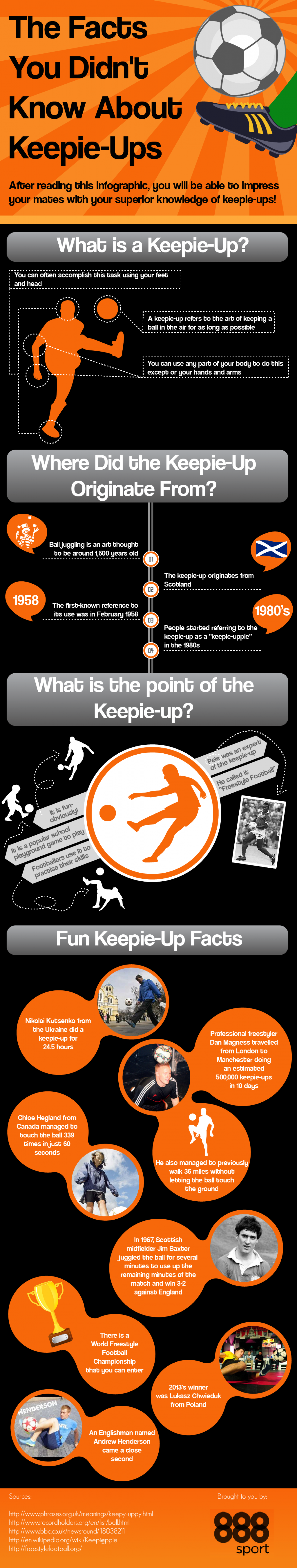 The Facts You Didn't Know About Keepie-Ups Infographic