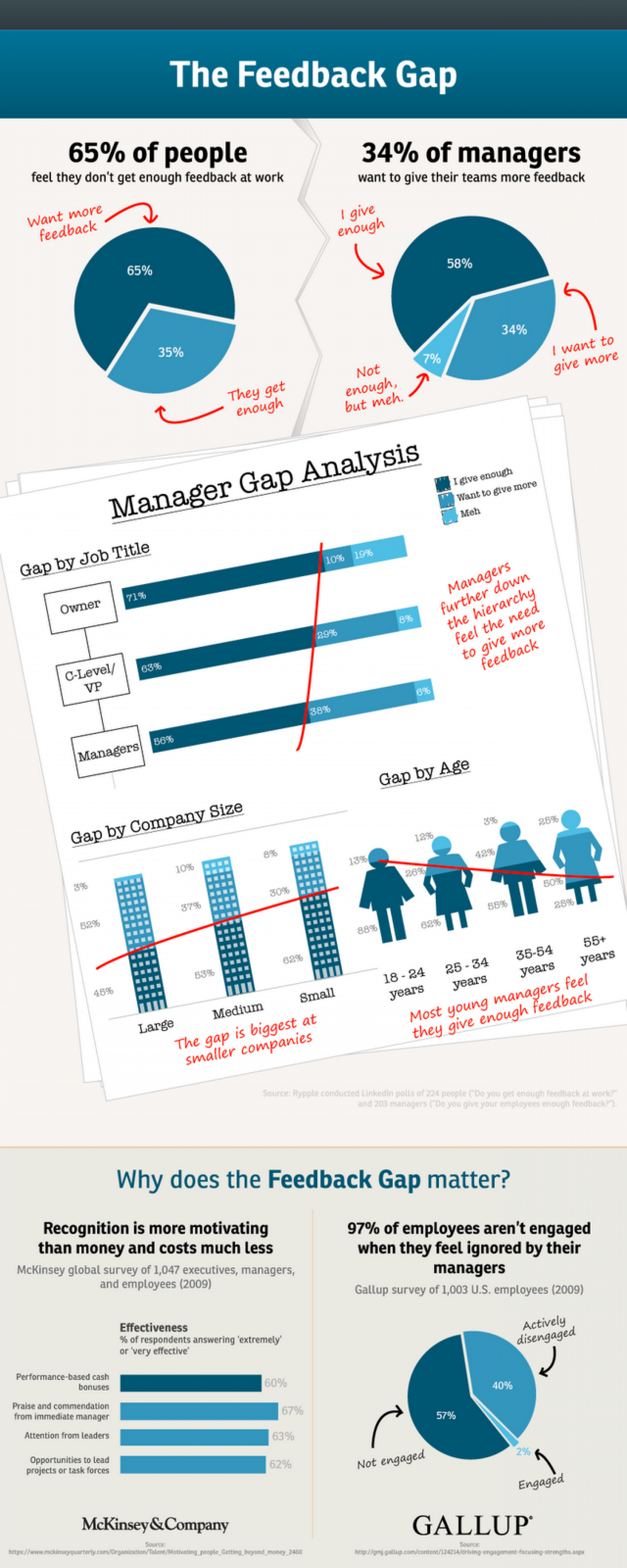 The Feedback Gap Infographic