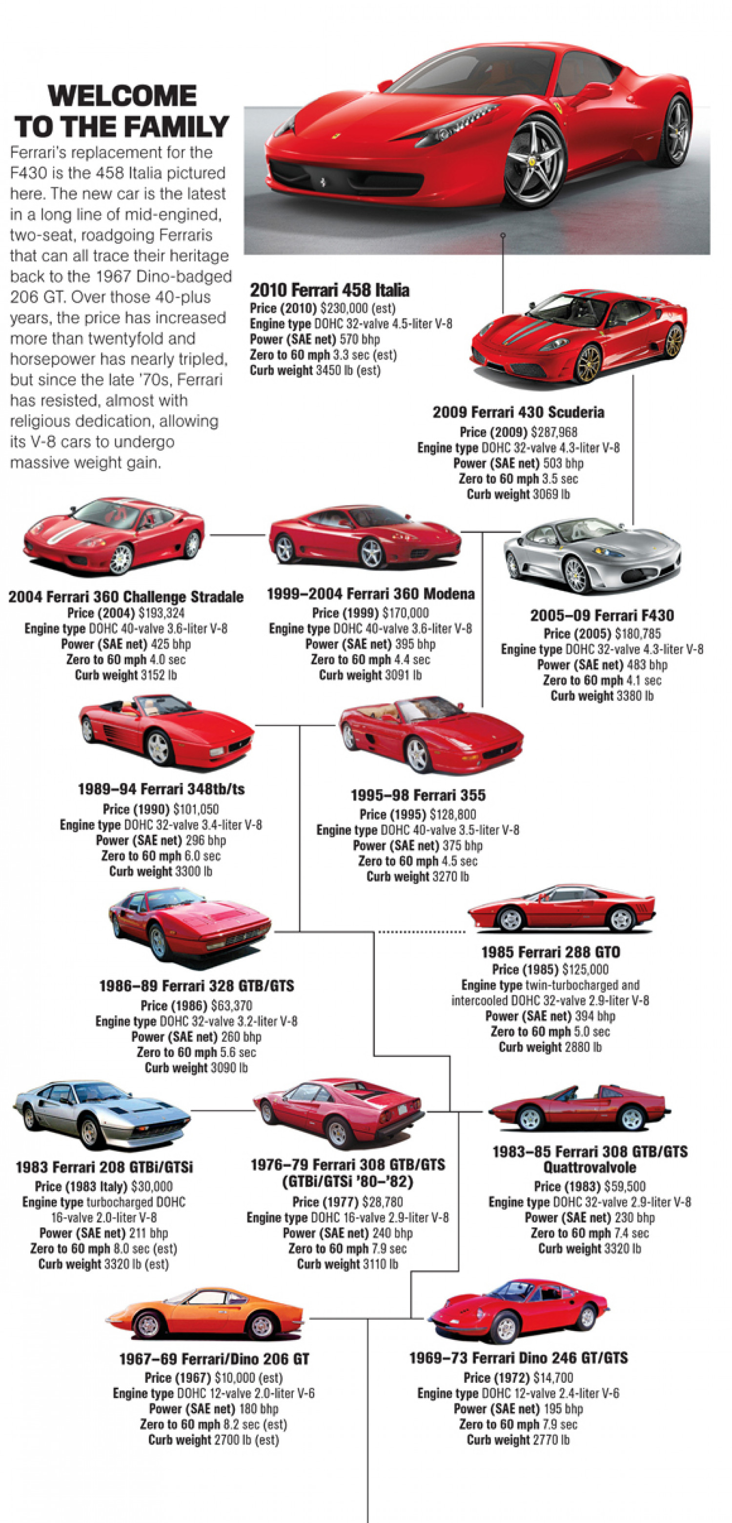 The Ferrari Family  Infographic