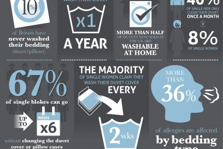 The Fine Bedding Company - Duvets and Pillows in Numbers Infographic