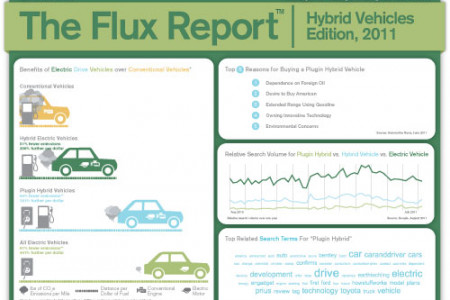 The Flux Report - Hybrid Vehicles Infographic