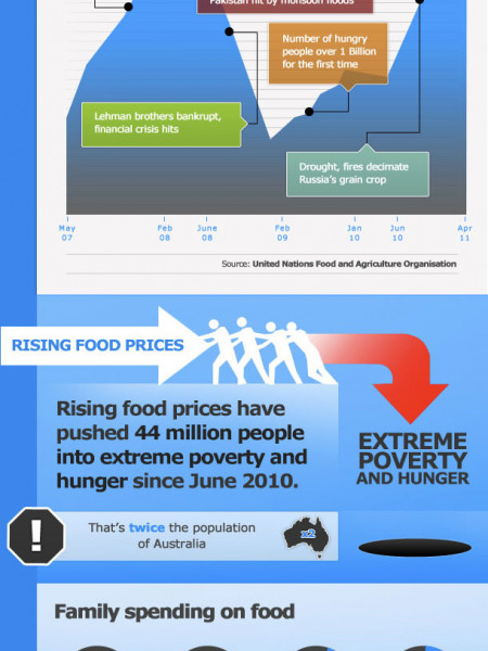 The Food Price Rollercoaster  Infographic