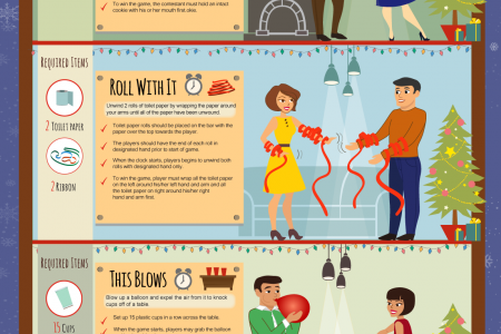 The Funniest Christmas Games Infographic