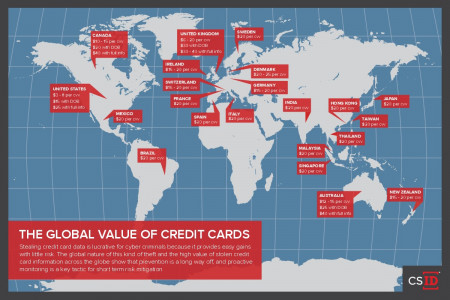 The Global Value of Credit Cards Infographic