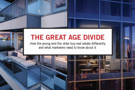 The Great Age Divide: How the young and the older buy real estate differently and what marketers need to know about it Infographic