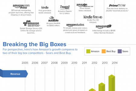 The growth of the everthing store: Amazon and it's impact on shipping & retail Infographic