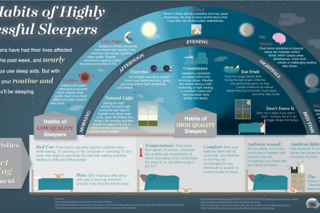 The Habits of Highly Successful Sleepers Infographic