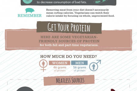 The Health Benefits of a Vegetarian Diet and Best Protein Sources Infographic