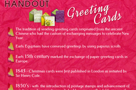 The History Handout - Greeting Cards Infographic
