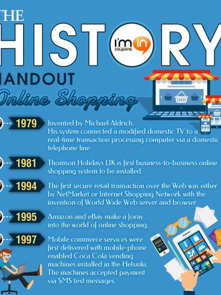 The History Handout - Online Shopping Infographic
