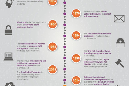 The History of Software Copyright Protection Infographic