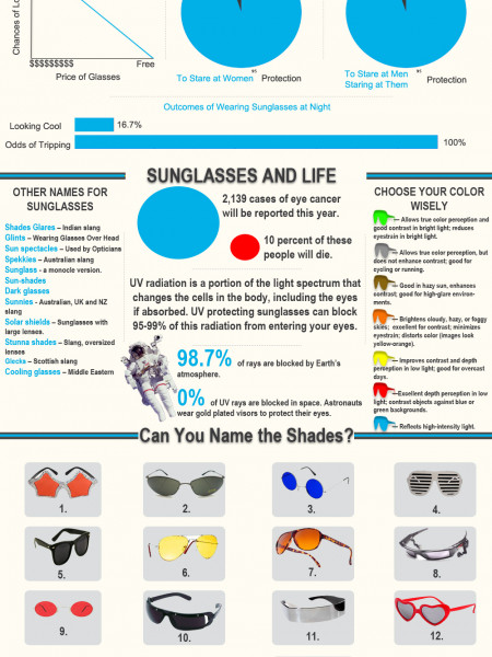 The History of Sunglasses: What You've Never Realized Infographic