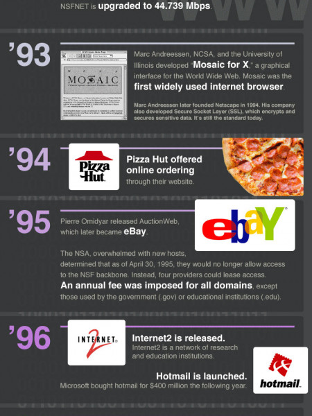 The History of the Internet Infographic