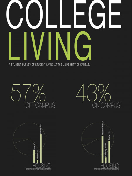The Housing Situations of the Design Students at KU Infographic