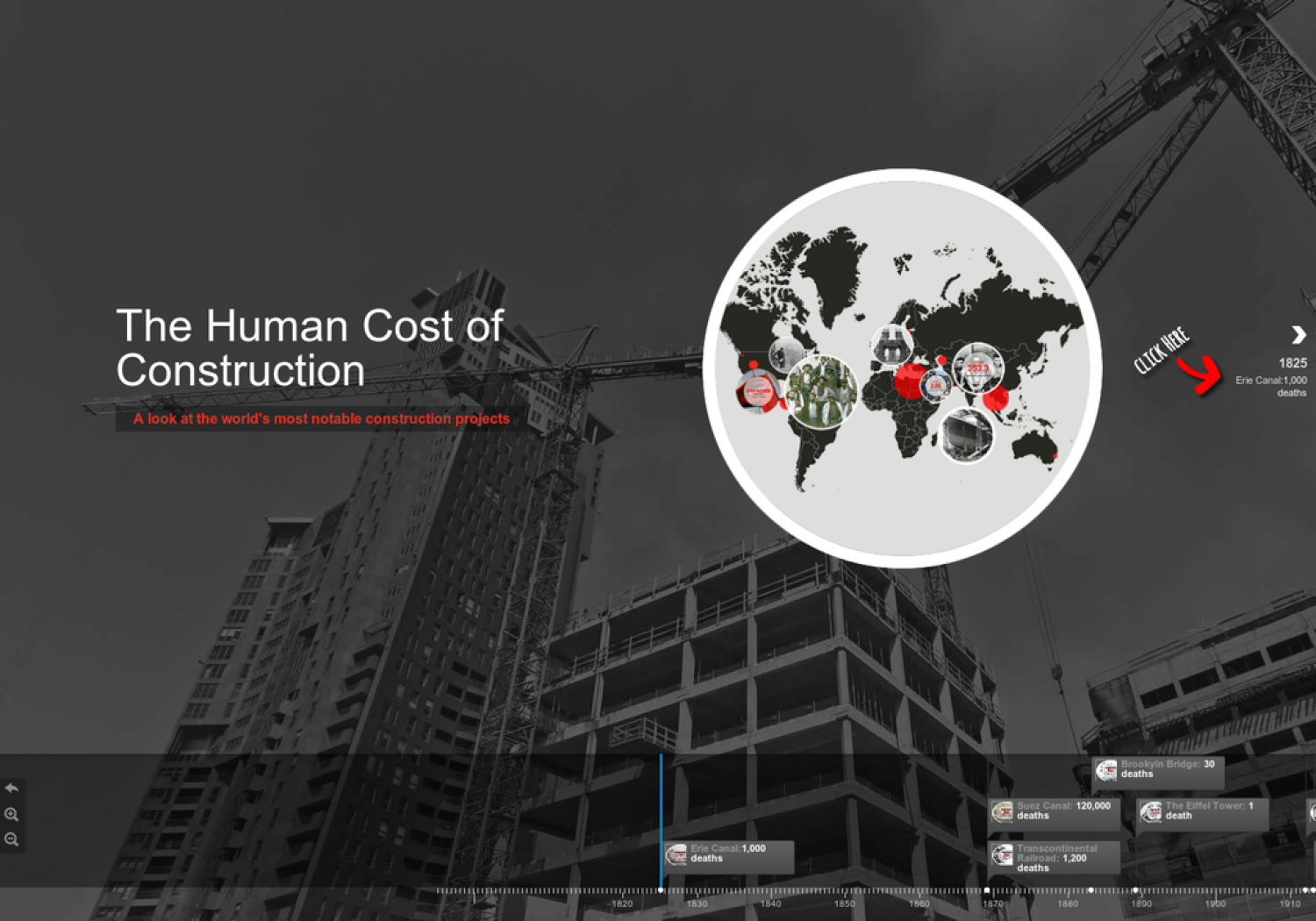 The Human Cost of Construction Infographic