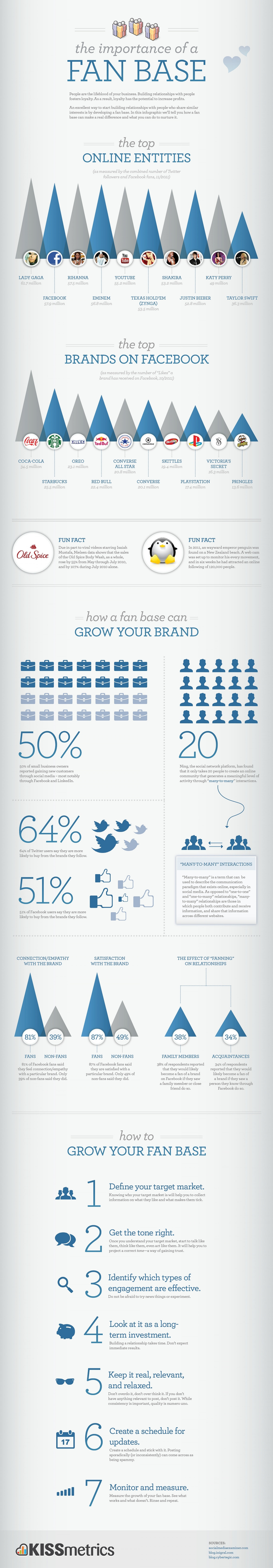 The Importance Of A Fan Base & How To Grow One Infographic