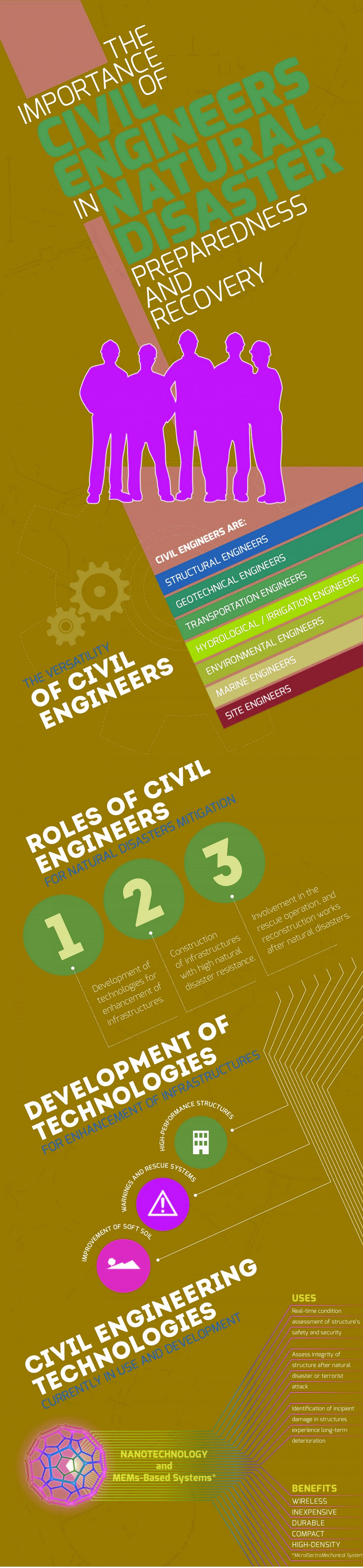 The Importance Of Civil Engineering in Natural Disaster  Infographic