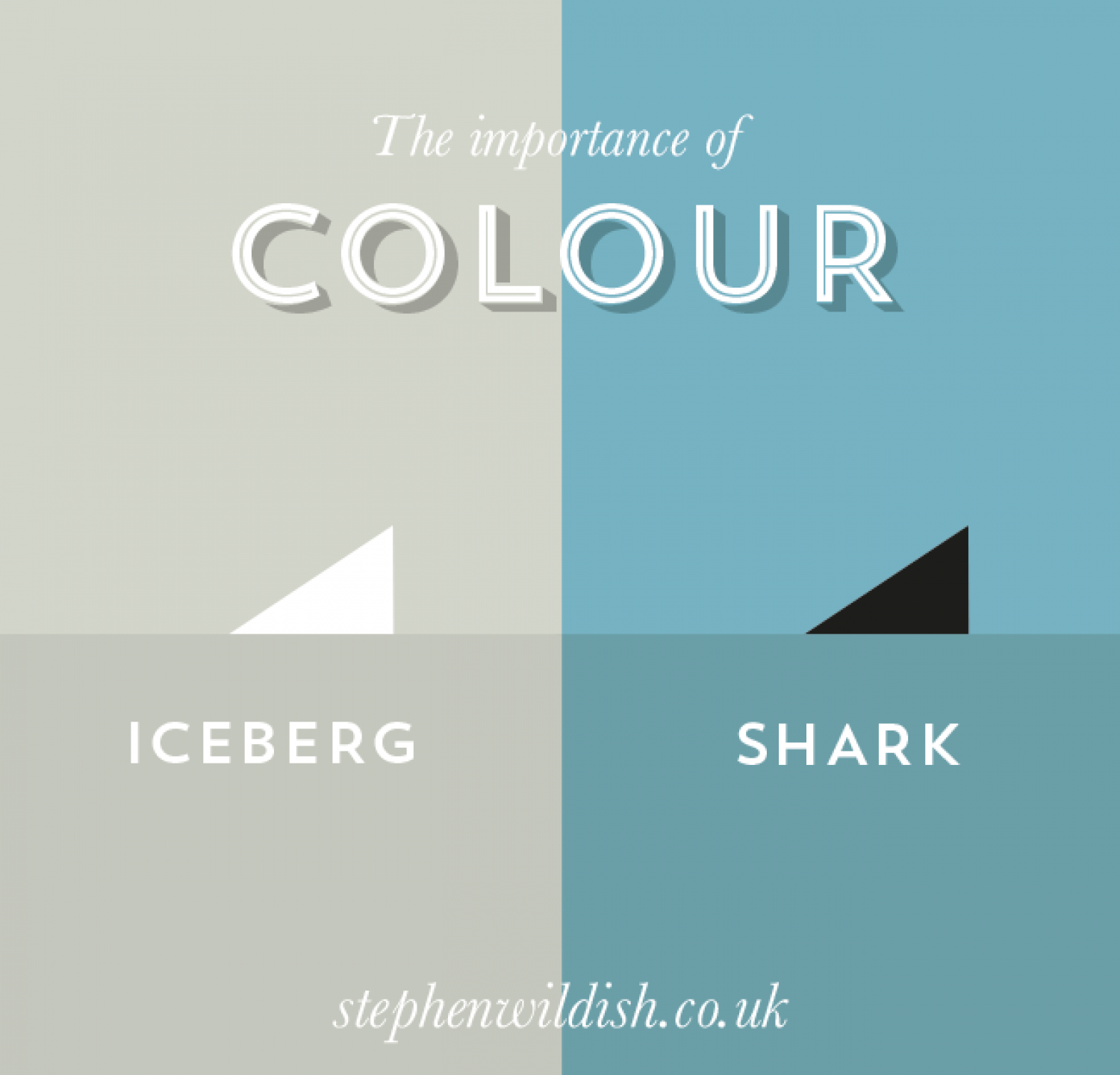 The importance of colour Infographic
