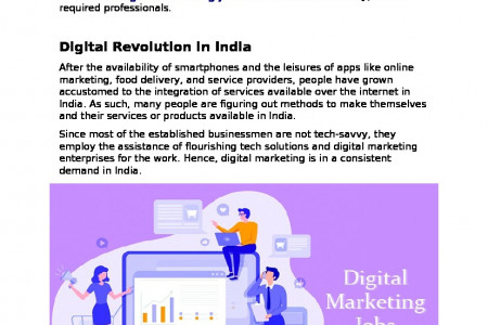 The Importance of Digital Marketing Jobs and Its Future in India Infographic