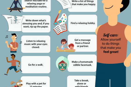 The Importance of Self-Care:  WHY YOU SHOULD PAMPER YOURSELF Infographic