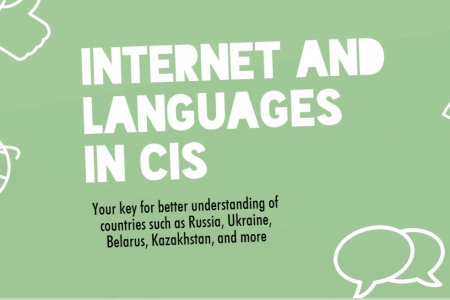 The Internet and Languages in the Eastern Europe Infographic