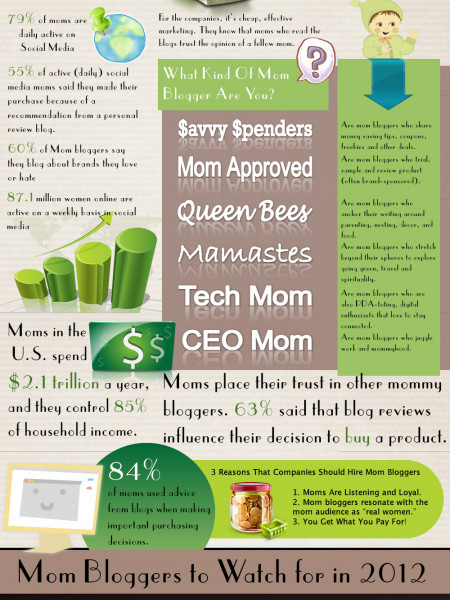The Intriguing World of The Mommy-Blogging Business Infographic